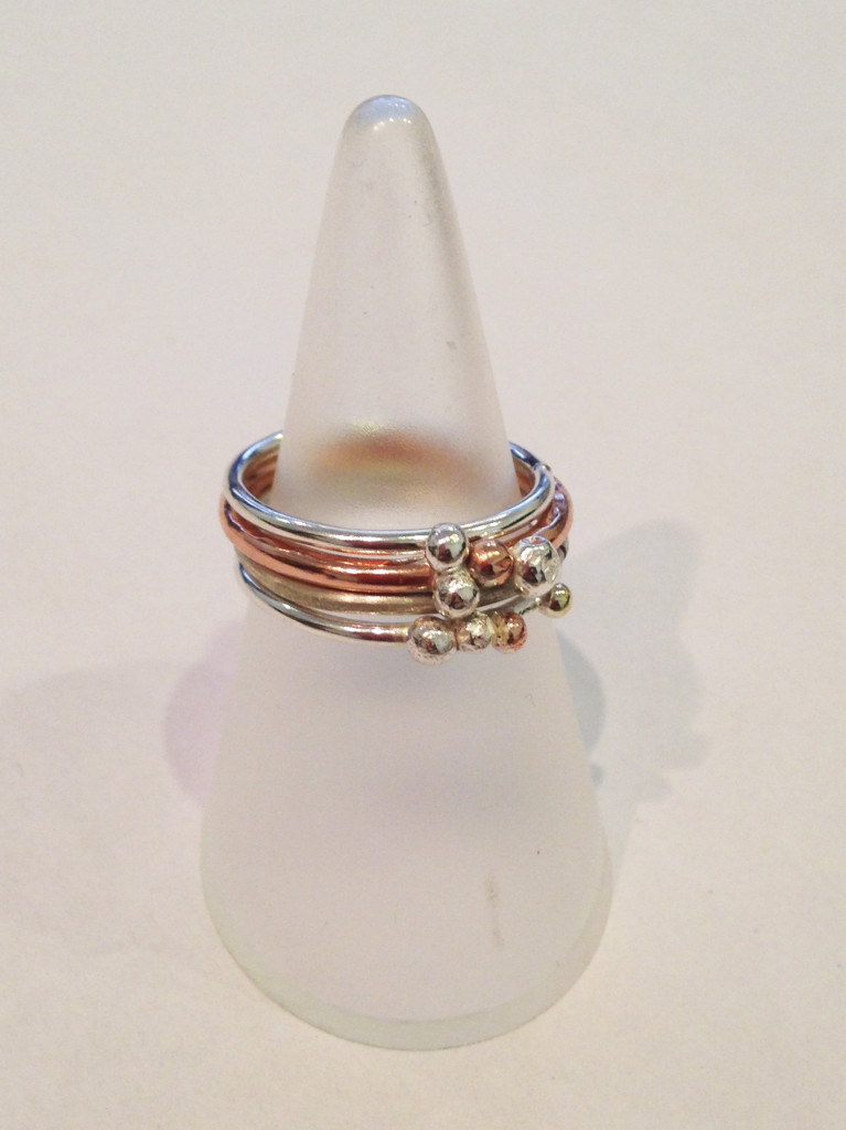 Silver, Gold and Copper Stack